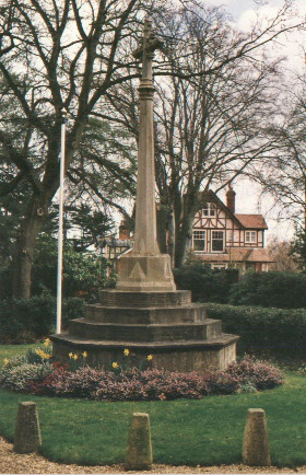 a stone cross war memorial